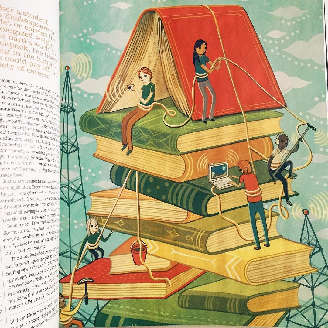 Full page illustration in Purdue Alumni Magazine © Susie Ghahremani / boygirlparty.com