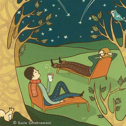 Rhode Island Monthly – meteor illustration by Susie Ghahremani / boygirlparty.com