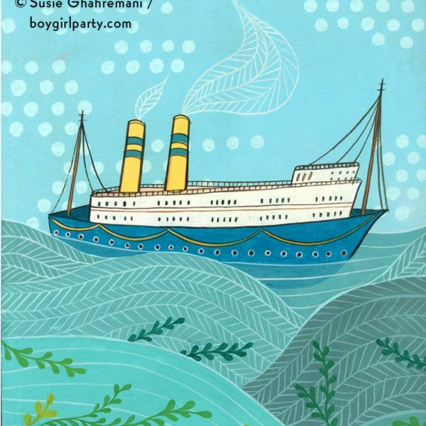 Sea Legs, artwork by Susie Ghahremani / boygirlparty.com