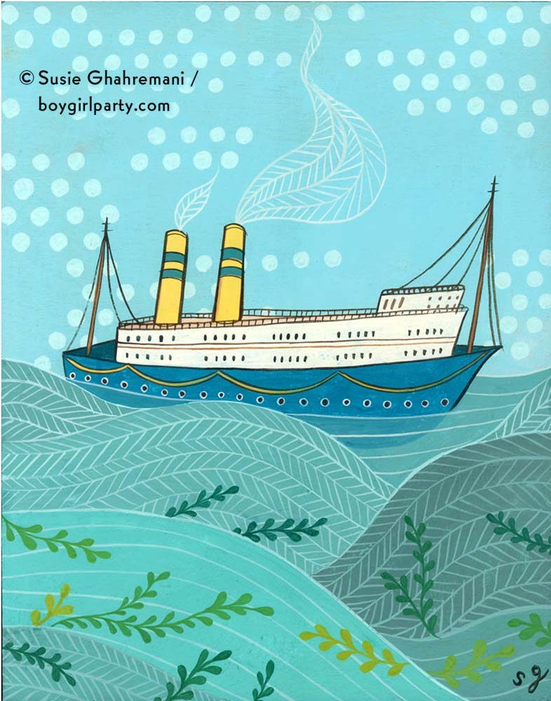 Sea Legs, artwork by Susie Ghahremani / boygirlparty.com