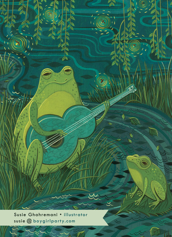 Bluegrass Frog by Susie Ghahremani / boygirlparty.com