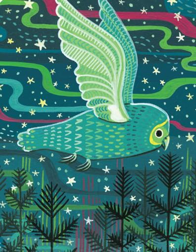 Icelandic Owl painting by Susie Ghahremani / boygirlparty.com