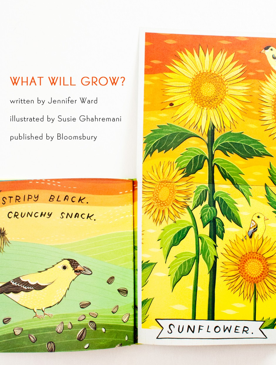 What Will Grow? picture book illustrated by Susie Ghahremani