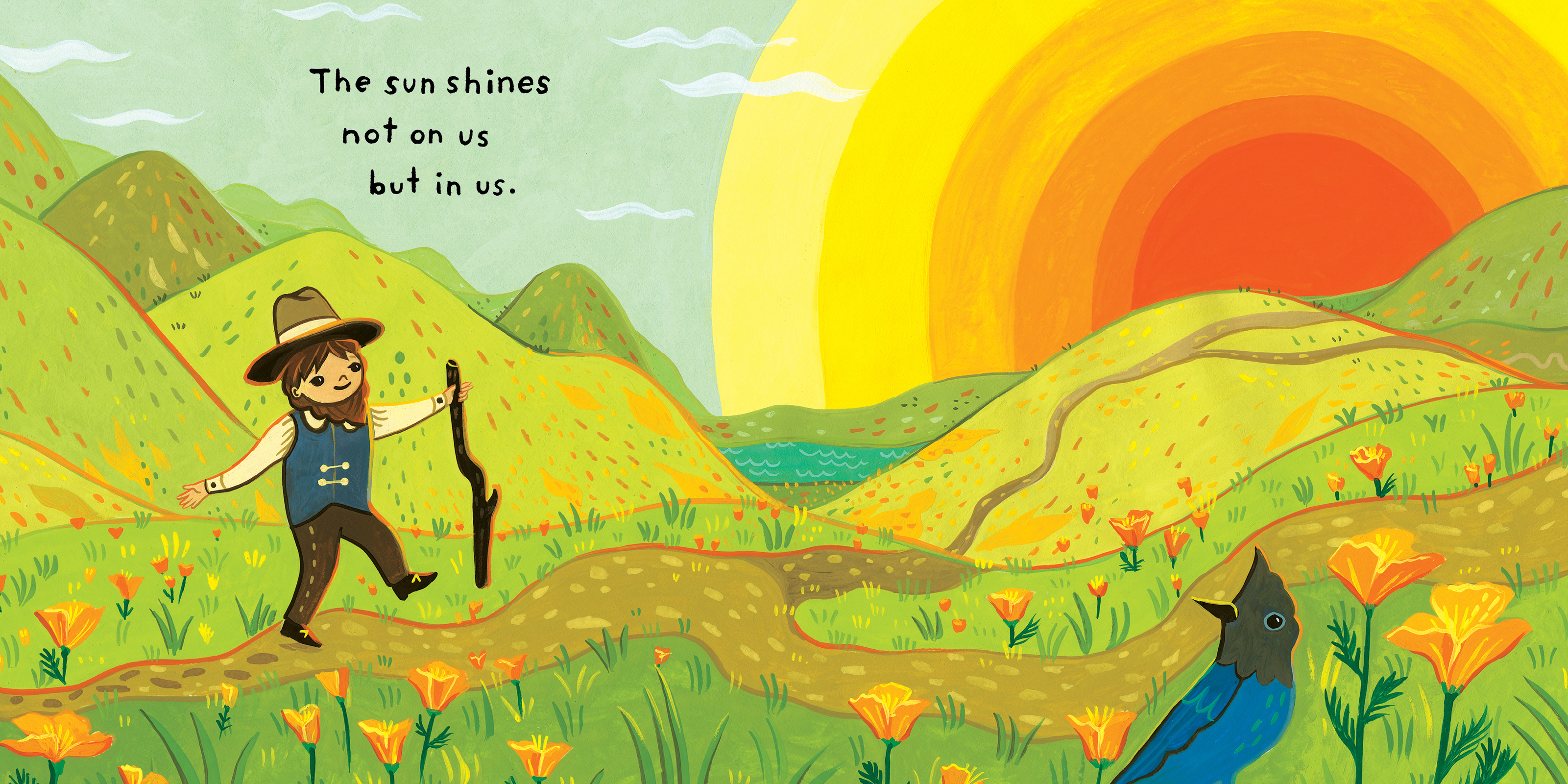 A page from Little Muir's Song -- written by John Muir, Illustrated by Susie Ghahremani
