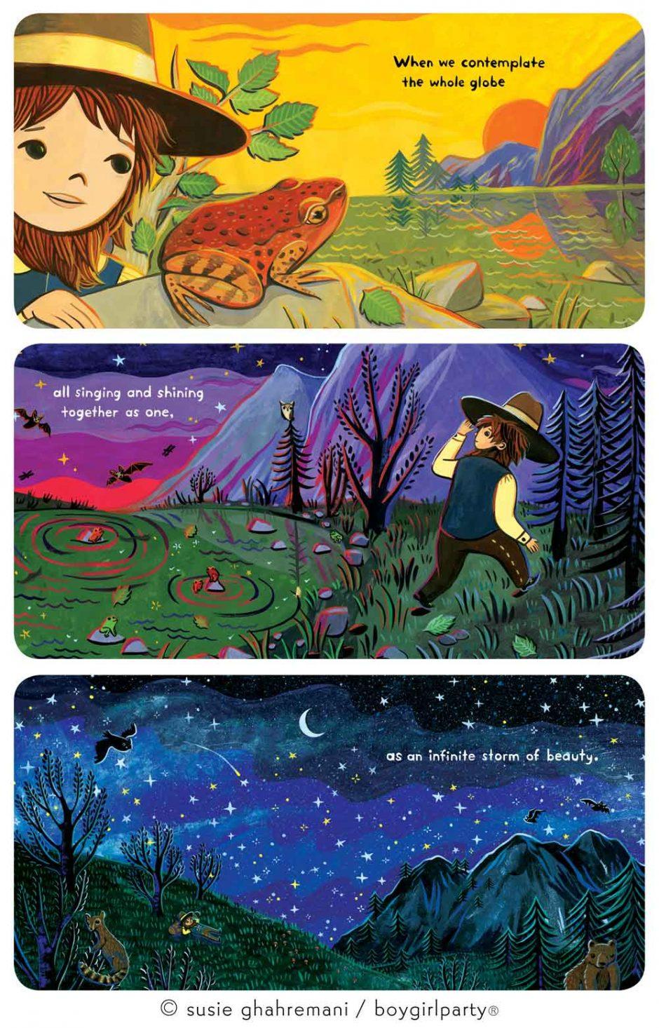Baby Nature books by female children's book illustrator Susie Ghahremani