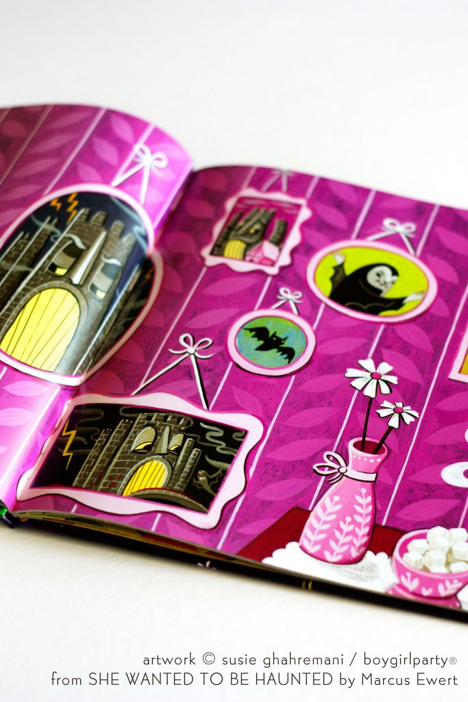 Hand painted, colorful children's book illustrations by Susie Ghahremani