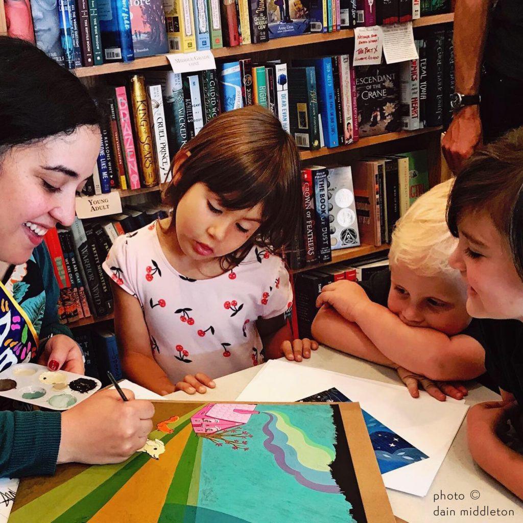 susie ghahremani painting with kids