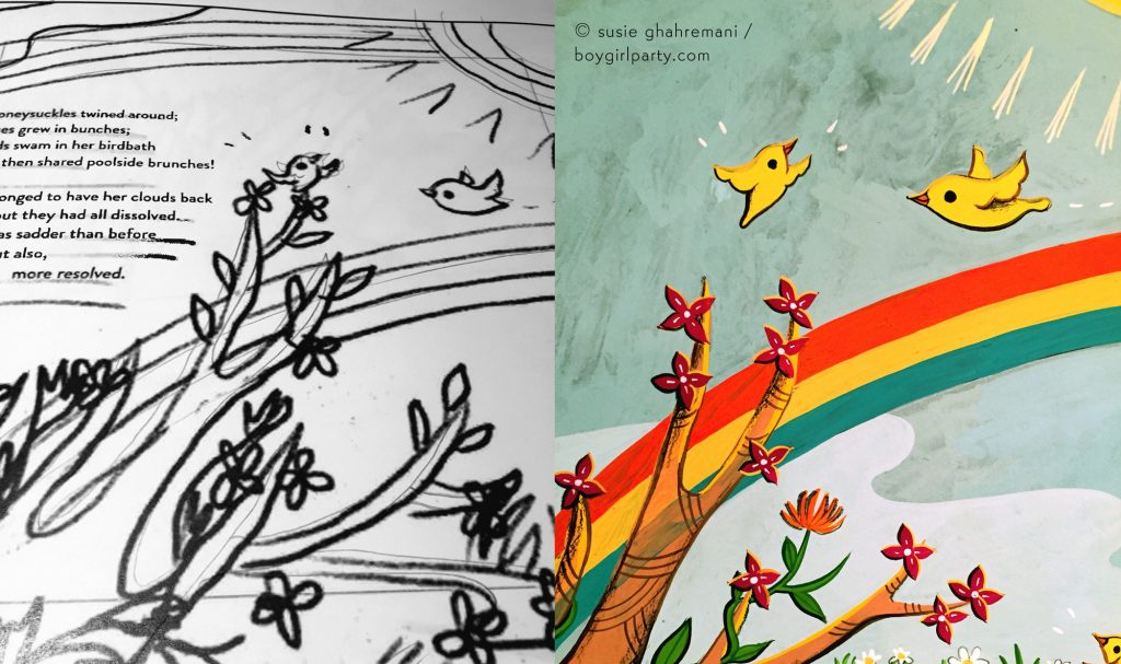 From Sketch to Final -- picture book illustration by Susie Ghahremani