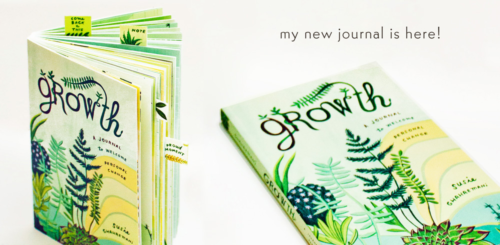 Illustrated gift journal by Susie Ghahremani
